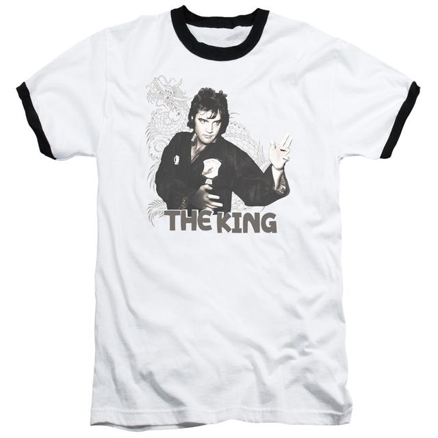 Elvis Presley Shirt | FIGHTING KING Premium Ringer Tee