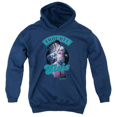 Elvis Presley Youth Hoodie   TOTAL TROUBLE Pull-Over Sweatshirt