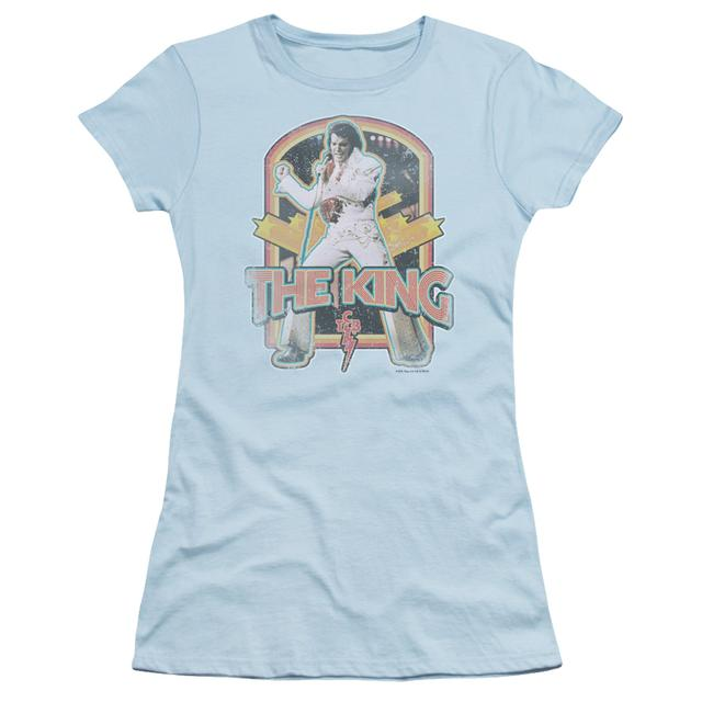 Elvis Presley Juniors Shirt | DISTRESSED KING Juniors T Shirt
