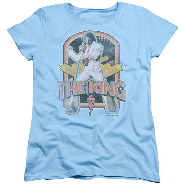 Elvis Presley Women's Shirt | DISTRESSED KING Ladies Tee