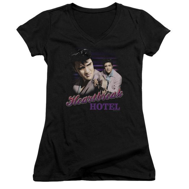 Elvis Presley Junior's V-Neck Shirt | HEARTBREAK HOTEL Junior's Tee