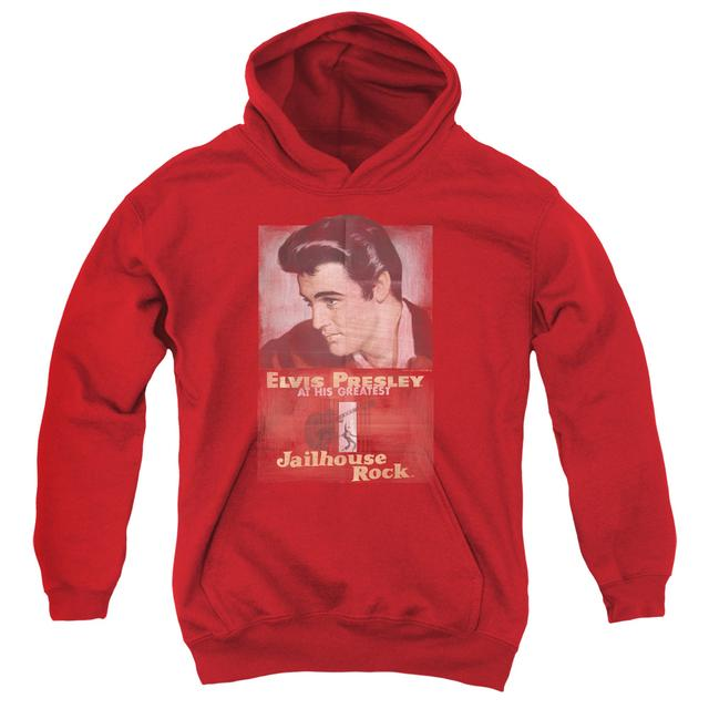 Elvis Presley Youth Hoodie | JAILHOUSE ROCK POSTER Pull-Over Sweatshirt