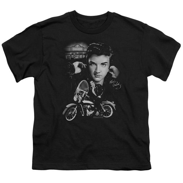 Elvis Presley Youth Tee   THE KING RIDES AGAIN Youth T Shirt