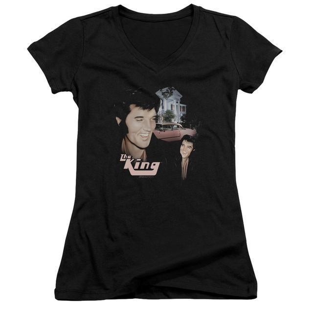 Elvis Presley Junior's V-Neck Shirt   HOME SWEET HOME Junior's Tee