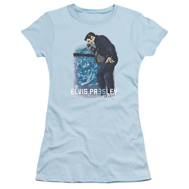 Elvis Presley Juniors Shirt   35TH ANNIVERSARY 3 Juniors T Shirt