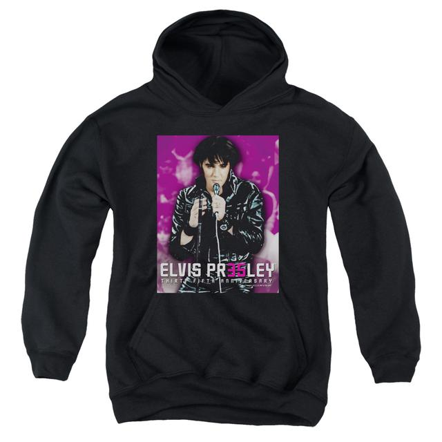 Elvis Presley Youth Hoodie | 35 LEATHER Pull-Over Sweatshirt