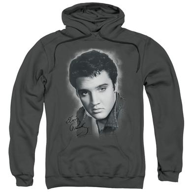 Elvis Presley Hoodie | GREY PORTRAIT Pull-Over Sweatshirt