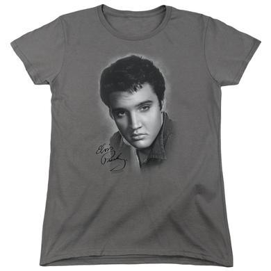 Elvis Presley Women's Shirt | GREY PORTRAIT Ladies Tee