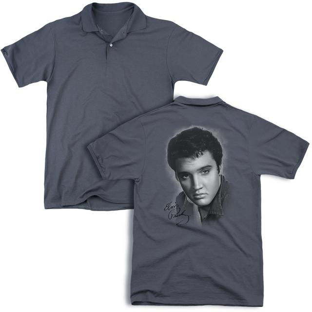 Elvis Presley GREY PORTRAIT (BACK PRINT)