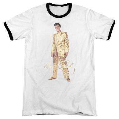 Elvis Presley Shirt | GOLD LAME SUIT Premium Ringer Tee