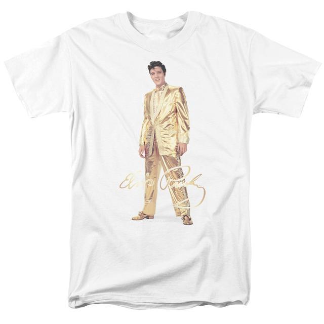 Elvis Presley Shirt   GOLD LAME SUIT T Shirt