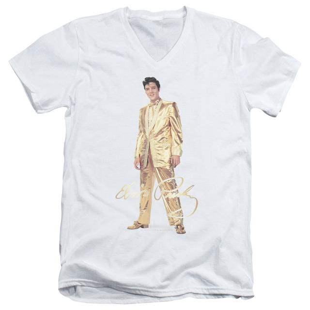 Elvis Presley T Shirt (Slim Fit) | GOLD LAME SUIT Slim-fit Tee