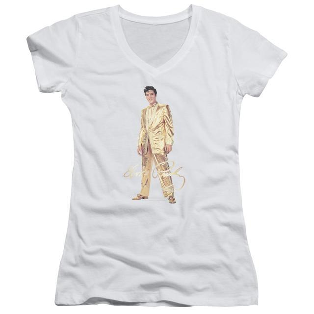 Elvis Presley Junior's V-Neck Shirt | GOLD LAME SUIT Junior's Tee