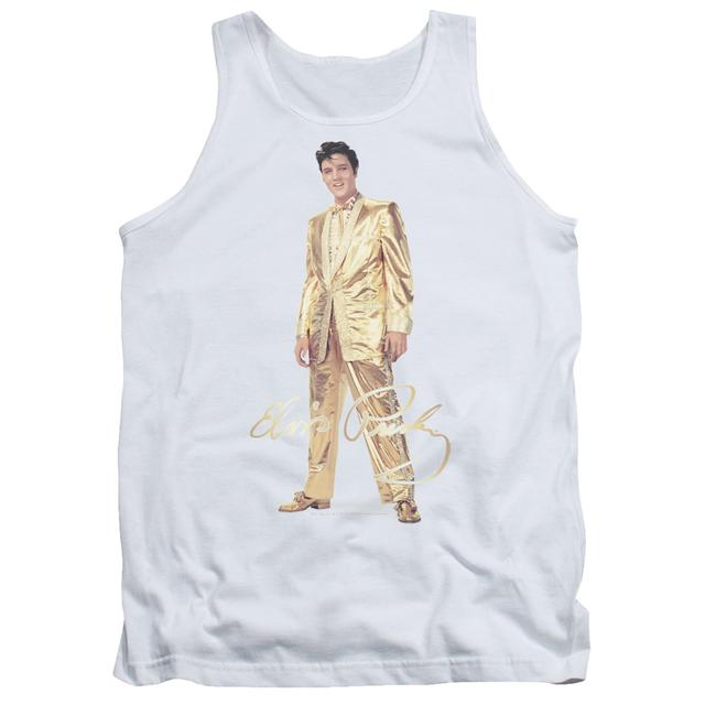 Elvis Presley Tank Top | GOLD LAME SUIT Sleeveless Shirt