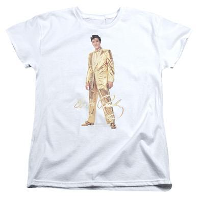 Elvis Presley Women's Shirt   GOLD LAME SUIT Ladies Tee