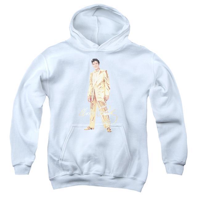 Elvis Presley Youth Hoodie   GOLD LAME SUIT Pull-Over Sweatshirt