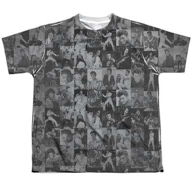 Elvis Presley Youth Shirt   TCB CROWD Sublimated Tee