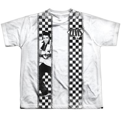 Elvis Presley Youth Shirt | CHECKERED BOWLING SHIRT Sublimated Tee
