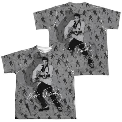 Elvis Presley Youth Shirt | ROCKIN ALL OVER (FRONT/BACK PRINT) Sublimated Tee