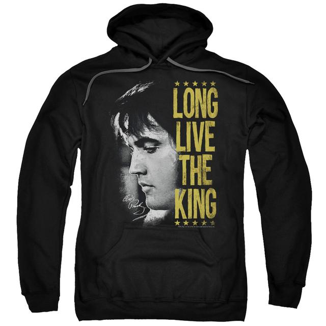 Elvis Presley Hoodie | LONG LIVE THE KING Pull-Over Sweatshirt
