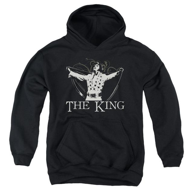 Elvis Presley Youth Hoodie | ORNATE KING Pull-Over Sweatshirt
