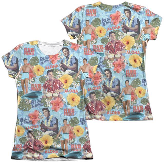 Elvis Presley Junior's Shirt | SURF'S UP (FRONT/BACK PRINT) Junior's Tee