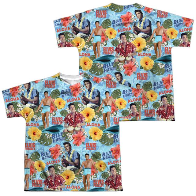 Elvis Presley Youth Shirt | SURF'S UP (FRONT/BACK PRINT) Sublimated Tee