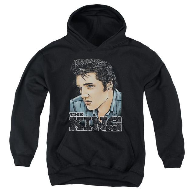 Elvis Presley Youth Hoodie | GRAPHIC KING Pull-Over Sweatshirt