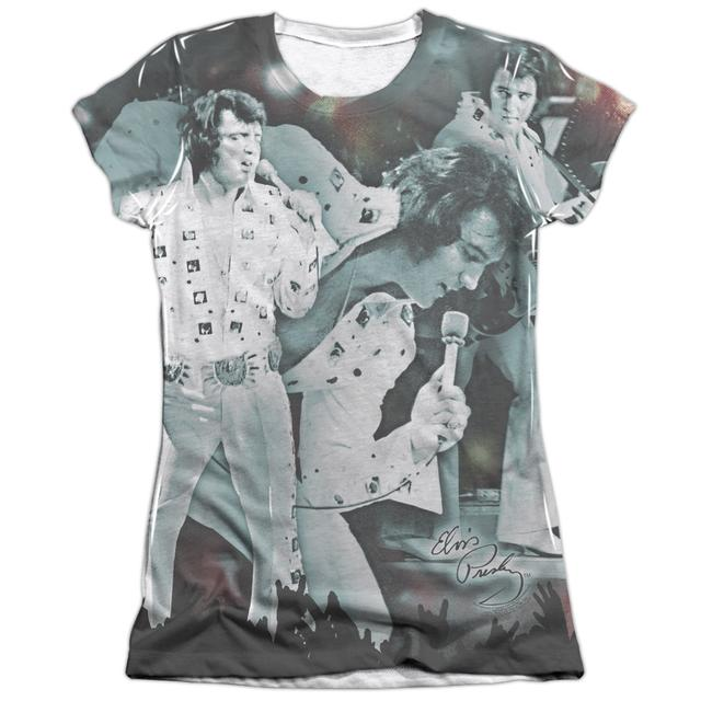 Elvis Presley Junior's Shirt | NOW PLAYING (FRONT/BACK PRINT) Junior's Tee