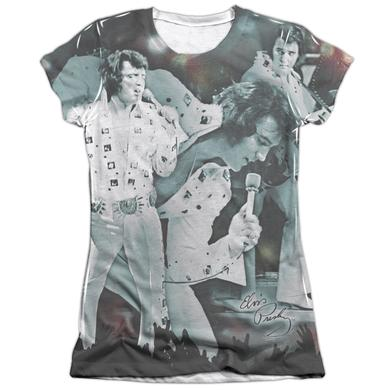 Elvis Presley Junior's Shirt | NOW PLAYING (FRONT/BACK PRINT) Junior's Tee