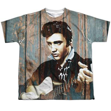 Elvis Presley Youth Shirt | WOODGRAIN Sublimated Tee