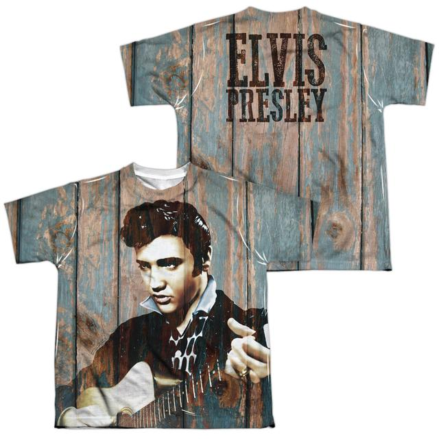 Elvis Presley Youth Shirt | WOODGRAIN (FRONT/BACK PRINT) Sublimated Tee
