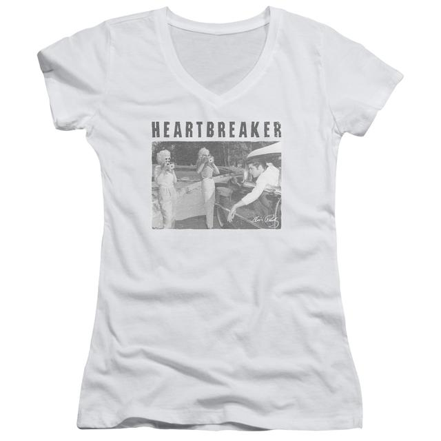 Elvis Presley Junior's V-Neck Shirt | HEARTBREAKER Junior's Tee