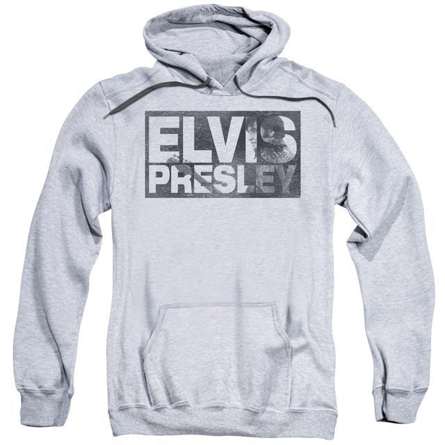 Elvis Presley Hoodie | BLOCK LETTERS Pull-Over Sweatshirt