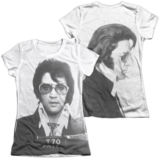 Elvis Presley Junior's Shirt | MUGSHOT (FRONT/BACK PRINT) Junior's Tee