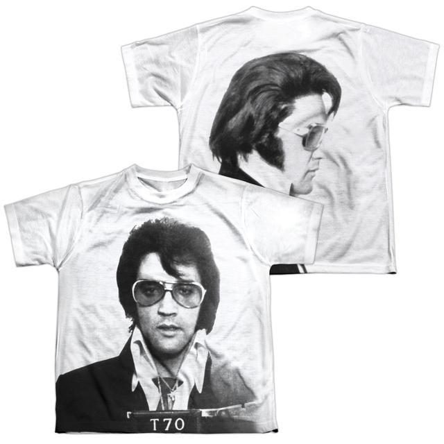 Elvis Presley Youth Shirt | MUGSHOT (FRONT/BACK PRINT) Sublimated Tee