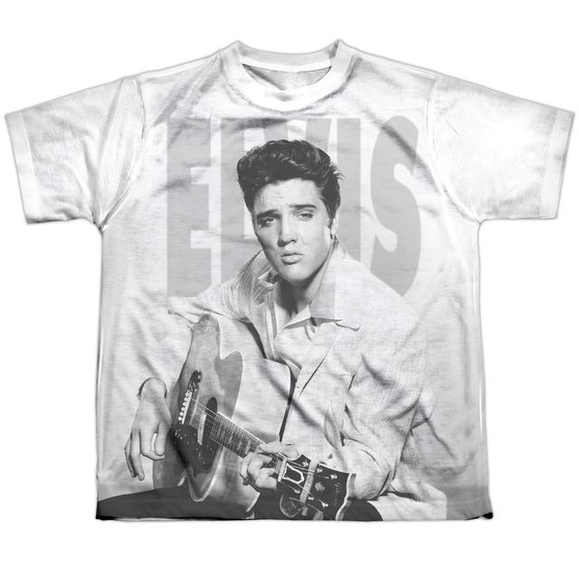 Elvis Presley Youth Shirt   PLAY ME A SONG Sublimated Tee