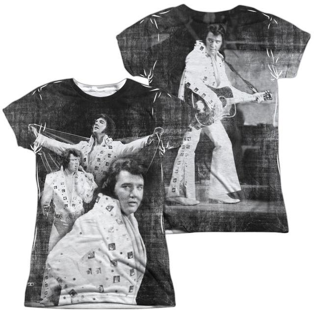 Elvis Presley Junior's T Shirt   LEGENDARY PERFORMANCE (FRONT/BACK PRINT) Sublimated Tee