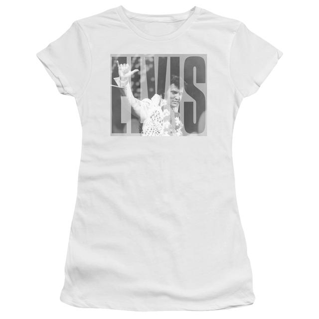 Elvis Presley Juniors Shirt | ALOHA GRAY Juniors T Shirt