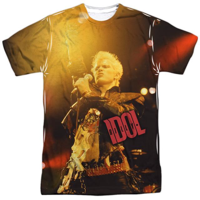 Billy Idol Shirt | REBEL (FRONT/BACK PRINT) Tee