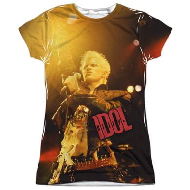 Billy Idol Junior's T Shirt | REBEL (FRONT/BACK PRINT) Sublimated Tee