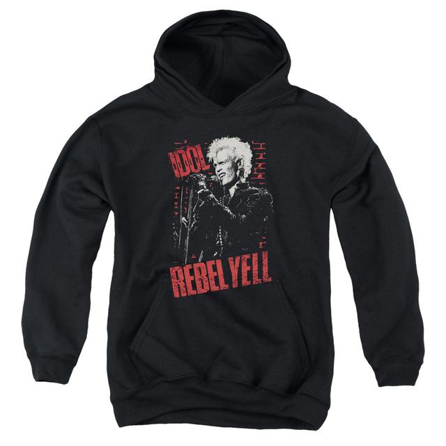 Billy Idol Youth Hoodie | BRICK WALL Pull-Over Sweatshirt