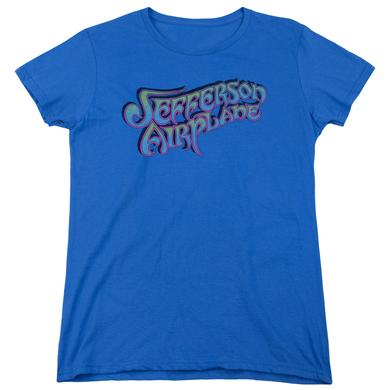 Jefferson Airplane Women's Shirt | GRADIENT LOGO Ladies Tee