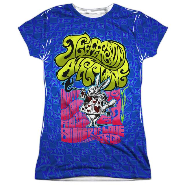 Jefferson Airplane Junior's T Shirt | WHITE RABBIT Sublimated Tee