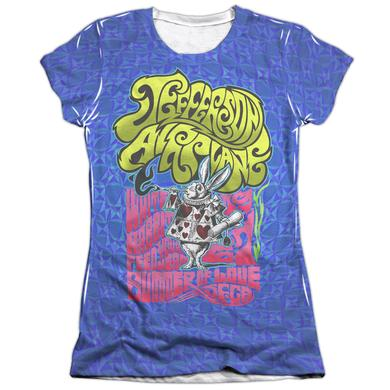Jefferson Airplane Junior's Shirt | WHITE RABBIT (FRONT/BACK PRINT) Junior's Tee