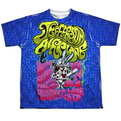 Jefferson Airplane Youth Shirt | WHITE RABBIT (FRONT/BACK PRINT) Sublimated Tee