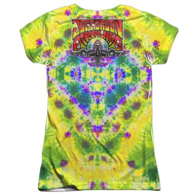 Jefferson Airplane Junior's T Shirt | TAKE OFF (FRONT/BACK PRINT) Sublimated Tee