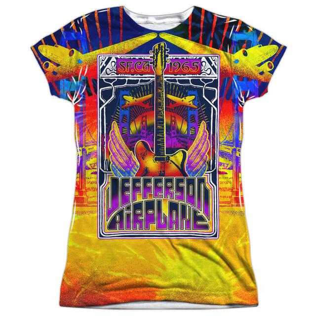 Jefferson Airplane Junior's T Shirt | SAN FRANCISCO Sublimated Tee