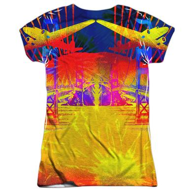 Jefferson Airplane Junior's T Shirt | SAN FRANCISCO (FRONT/BACK PRINT) Sublimated Tee