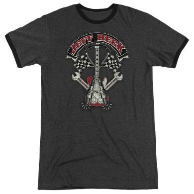 Jeff Beck Shirt | BECKABILLY GUITAR Premium Ringer Tee